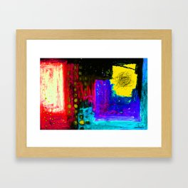 in the yellow window Framed Art Print