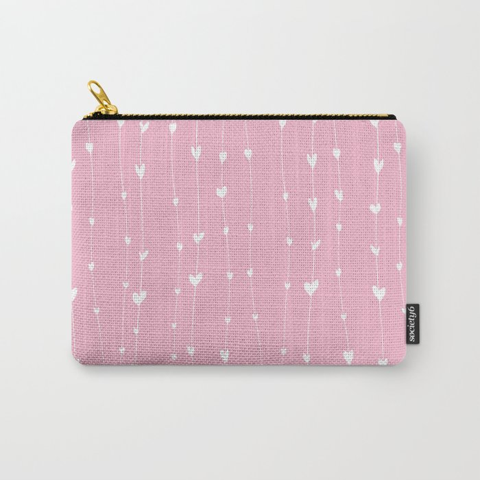 Handwriting Hearts Carry-All Pouch