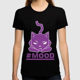#MOOD Cat Purple T-shirt