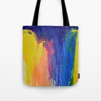 the strokes Tote Bags featuring Strokes by Tony Vazquez