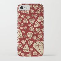 diamond iPhone & iPod Cases featuring diamond by Landon Sheely
