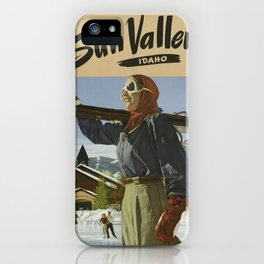 Vintage poster - Sun Valley iPhone Case