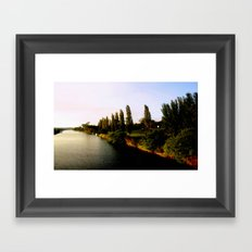 Cruising the Gippsland Lakes - Australia Framed Art Print