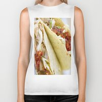 taco Biker Tanks featuring Taco  by Spotted Heart
