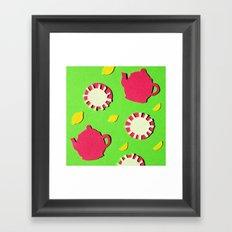 Apple Green Tea Framed Art Print