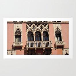 windows in Venice Art Print