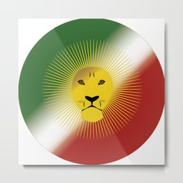 Lion And Sun Metal Print