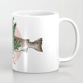 Seafood Series : Pine and Salmon Fish Coffee Mug