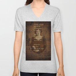 Emily Dickinson 4 Unisex V-Neck
