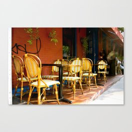 Outdoor Seating in NYC Canvas Print