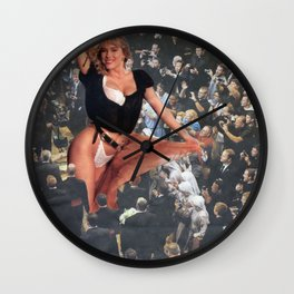 Fabulous Funeral Procession - Vintage Collage Wall Clock