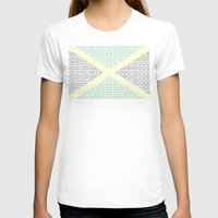 jamaica T-shirts featuring digital Flag (Jamaica) by seb mcnulty