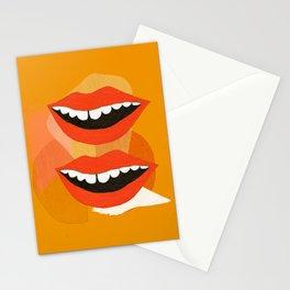 Lips (Orange) Stationery Cards
