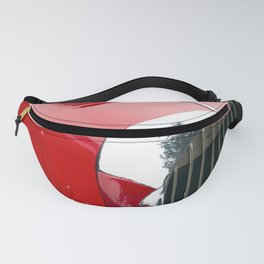 Classic british red car Fanny Pack