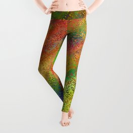 Abstract crayon background Leggings