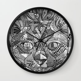 Kitty Face Wall Clock