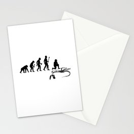 The Evolution Of Man And Paleontology Stationery Cards