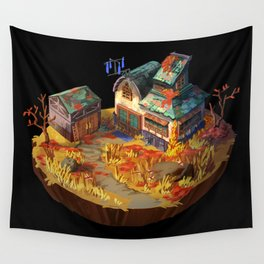 Autumn House Wall Tapestry