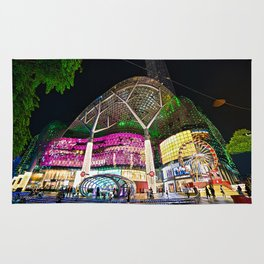 Christmas Glimmering Shopping Mall Full Frontage Rug