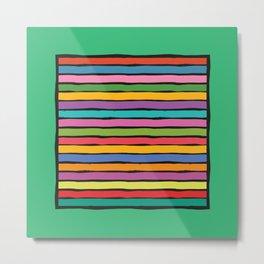 dp203-5B Colorful Stripes Metal Print