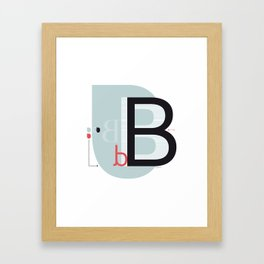 B b Framed Art Print