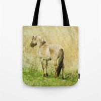 pony Tote Bags featuring pony by URS|foto+art