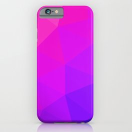 Magenta and Violet Low Poly Pattern iPhone Case