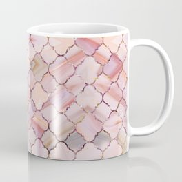 Moroccan Pattern in Marble and quartz crystal Texture Coffee Mug