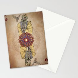 Arabesque Deck of Cards King Hearts Stationery Cards