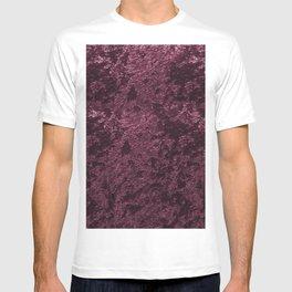 Deep Burgundy wine velvet T-shirt