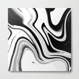 marble swirls Metal Print