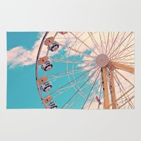 ferris wheel Area & Throw Rugs featuring Ferris Wheel by Katie_Photography