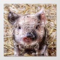 piglet Canvas Prints featuring scribbled Piglet by MehrFarbeimLeben