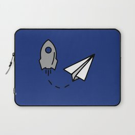 Rocket and origami paper airplane Laptop Sleeve