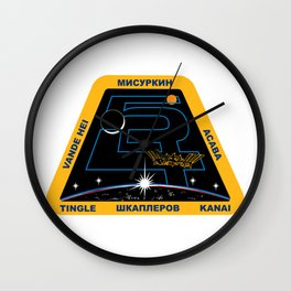 Expedition 54 Crew Patch Wall Clock