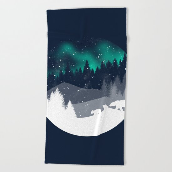Stardust Horizon Beach Towel