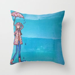 It's all about the Rain Gear Throw Pillow