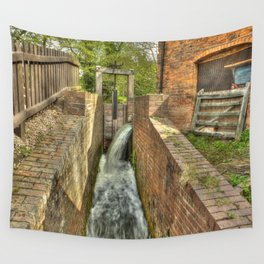 Sluice Gate at the Water mill Wall Tapestry