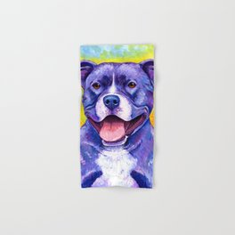 Colorful American Pitbull Terrier Dog Hand & Bath Towel