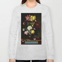 "Ambrosius Bosschaert the Elder ""Bouquet of Flowers in a Glass Vase"" Long Sleeve T-shirt"