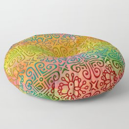 DP050-6 Colorful Moroccan pattern Floor Pillow