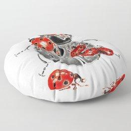 Siege of ladybugs Floor Pillow