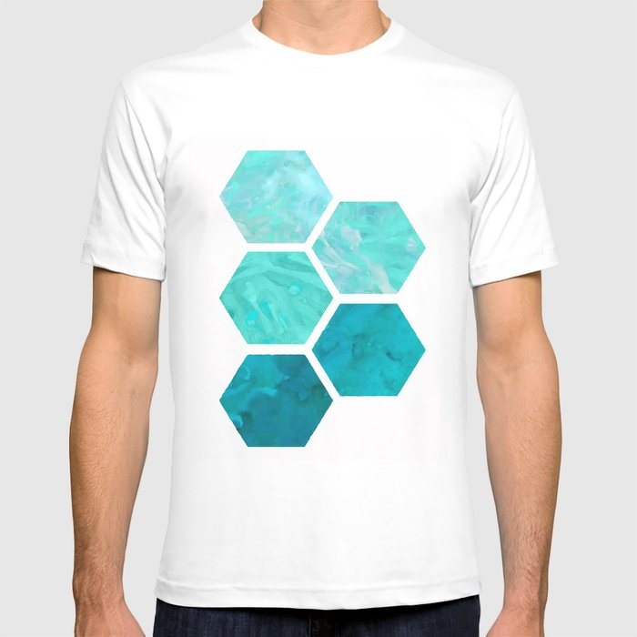 Blue polygon T-shirt