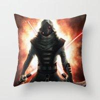 dark side Throw Pillows featuring Dark side by Michele Frigo