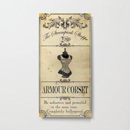 Steampunk Apothecary Shoppe - Corset Metal Print