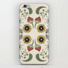 Flora Pattern I Light iPhone & iPod Skin