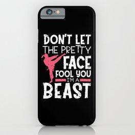 Self Defense Karate I Am A Beast iPhone Case
