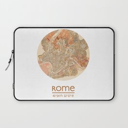 ROME ITALY - city poster - city map poster print Laptop Sleeve
