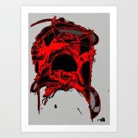 monster side Art Print