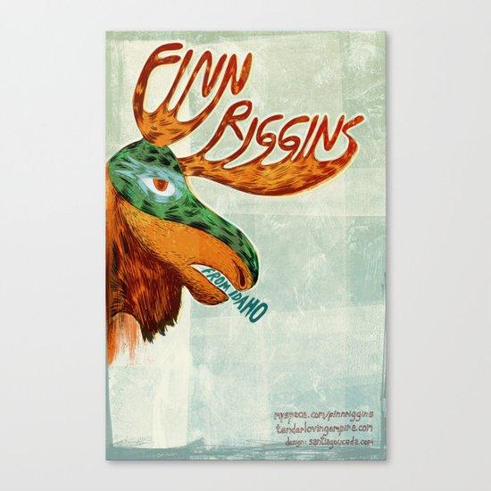 Finn Riggins gig poster Canvas Print